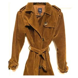 Gap corduroy brown coat, size small